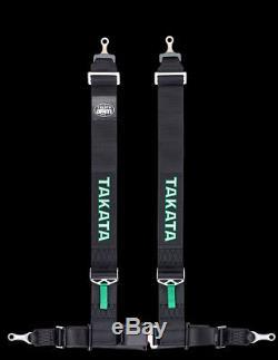Takata Drift Series Seat Belt Harness DRIFT III ASM SNAP (4PT SNAP-ON) Black