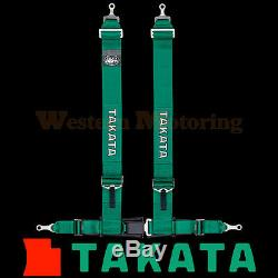 Takata Seat Belt Harness Drift III 4-Point ASM Green (Bolt-On) 70003US-H2
