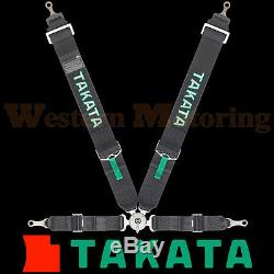 Takata Seat Belt Harness Race 4-Point ASM Black (Bolt-On) 71001US-0