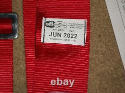Ultrashield June 2022 Sfi 16.1 Red Seat Belts Harness Imca USA Wissota Hans Dev