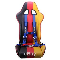 Universal 2 4 Point Harness Racing Camlock Quick Release Seat Belt Car Black