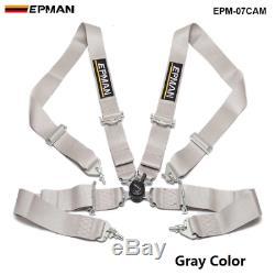 Universal 4-Point 3Nylon Strap Harness Safety Camlock Racing Seat Belt Race