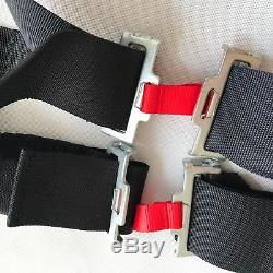 Universal Black 4 Point Camlock Quick Release Car Seat Belt Harness F OMP Racing