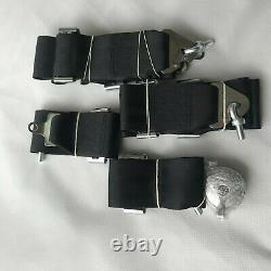 Universal Black 4 Point Camlock Quick Release Racing Car Seat Belt Harness 2.7W