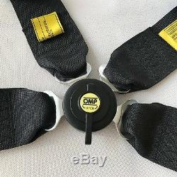 Universal Black 4 Point Camlock Quick Release Racing Car Seat Belt Harness F OMP