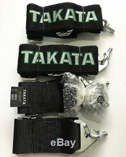 Universal Black 4 Point Camlock Quick Release Racing Seat Belt Harness