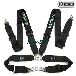 Universal Black 4 Point Camlock Quick Release Racing Seat Belt Harness FIA TKATA
