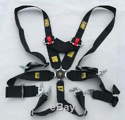 Universal Black 6 Point Cam-lock Harness Quick Release Seat Belt for#Racing