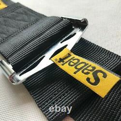Universal Black Sabelt 4 Point Camlock Quick Release Racing Seat Belt Harness