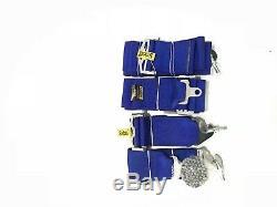 Universal Blue 4 Point Camlock Quick Release Racing Car Seat Belt Harness Sabelt