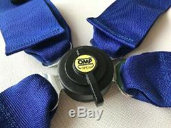 Universal Blue 4 Point Camlock Quick Release Racing Seat Belt Harness For OMP 3