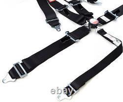 Universal Cam Lock Racing Harness Seat Belt 3 Sfi 16.1 5 Point Black