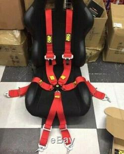 Universal Red 6 Point Camlock Quick Release Car Seat Belt Harness For OMP Racing