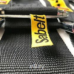Universal Sabelt Black 4 Point Camlock Quick Release Racing Seat Belt Harness#01