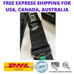 Universal TAKATA BLACK 6 Point Snap-On 3 With Camlock Racing Seat Belt Harness