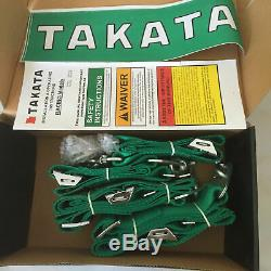 Universal TKATA 4 Point Camlock Quick Release Racing Car Seat Belt Harness Green