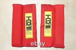 Vintage JDM TOM'S Racing Seat Belt Harness Shoulder Pad Set