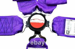 Wrap Around U Racing Harness Belt Sfi 16.1 5 Point 3 Cam Lock Seat Belt Purple