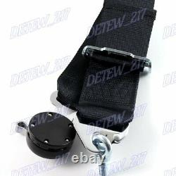 X1 Black 4 Point Camlock Quick Release Car Seat Belt Harness Racing Universal 3